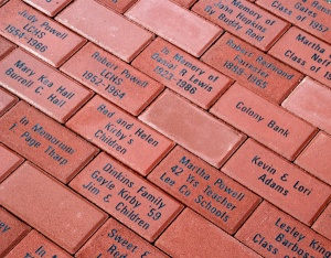 Example of engraved brick pavers